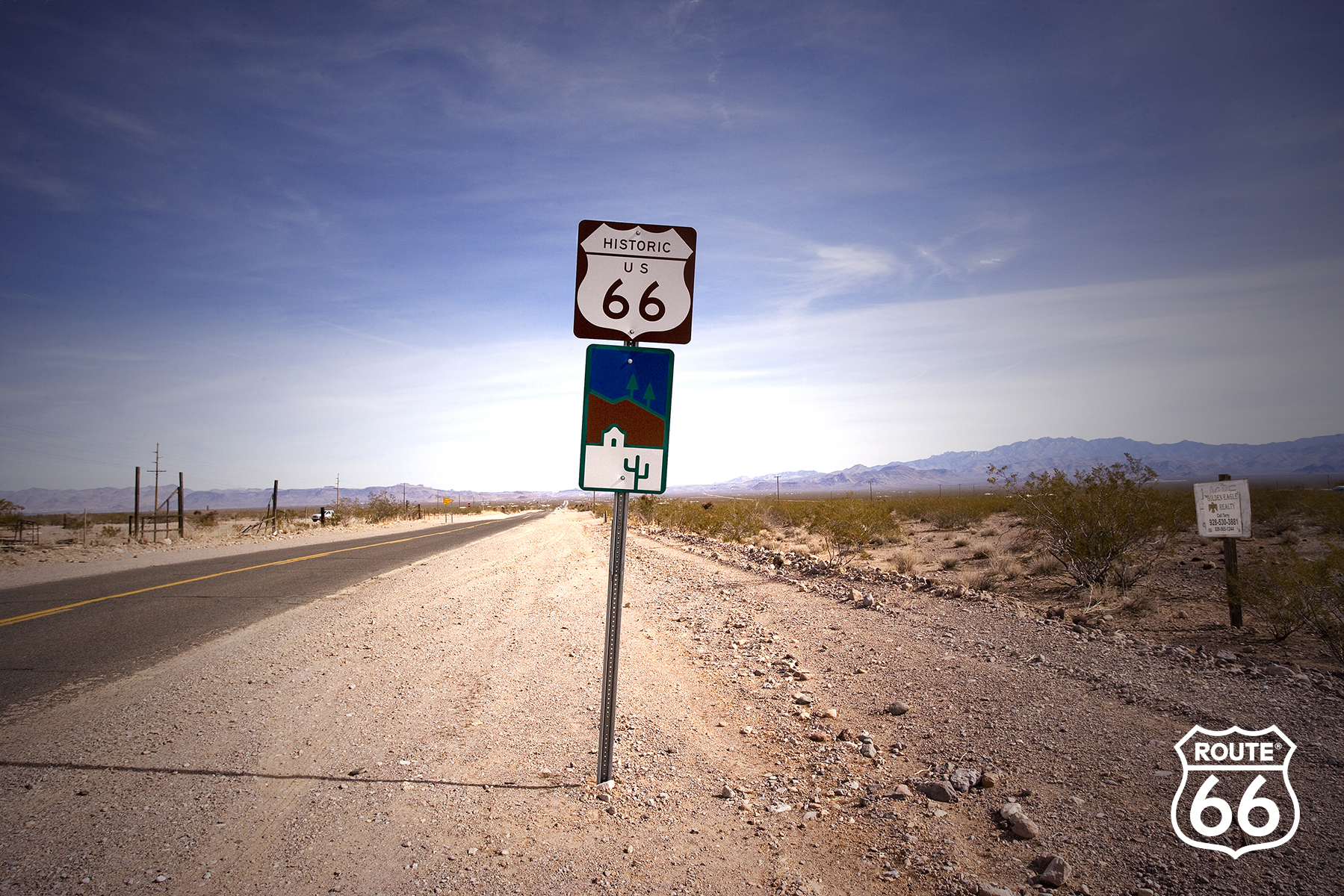 ADVERTISING ROUTE 66